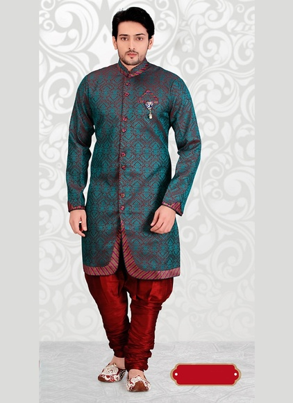Admirable Maroon Color Indo Western Sherwani