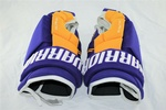 Warrior QX Pro Stock NHL Hockey Gloves LA Kings Purple Retro Gold 14 Shotblocker 2
