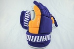 Warrior QX Pro Stock NHL Hockey Gloves LA Kings Purple Retro Gold 14 Shotblocker 3