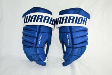 Warrior-QX-Pro-Stock-NHL-Hockey-Gloves-Toronto-Maple-Leafs-Shotblocker-13-New 1