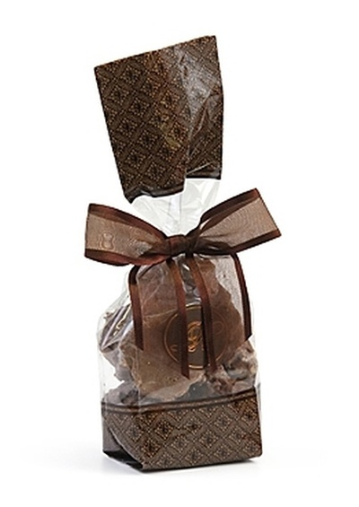 Brown Designer Gift Bag - Belgian Chocolate Coconut Clusters
