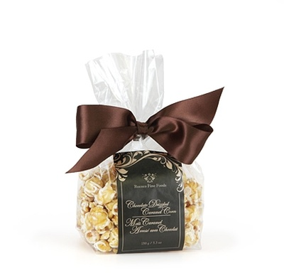 White Belgian Chocolate Caramel Corn, Gift Bag