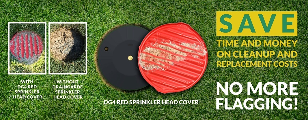 Save Time and Money on Cleanup and Replacement Costs - Draingarde Sprinkler Heads