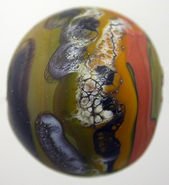 1517-2063 etched hollow avocado-coral focal