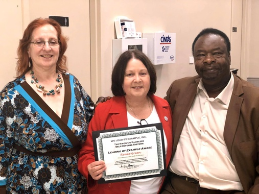 "We Lead By Example, Inc., Honors Renee Green, Bladensburg ""Peace Cross"" Supporter, October 21, 2019"