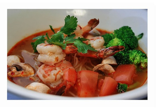 Order Tom Yam Soup at Thai Noodle in Toronto