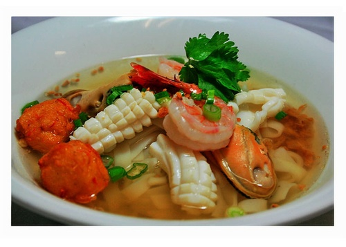 Tasty Thai Seafood Soup at Thai Noodle in Toronto