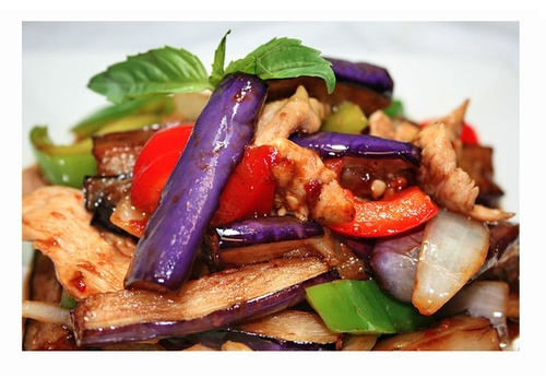 Get Chicken Spicy Eggplant at Thai Noodle - Thai Food Vaughan