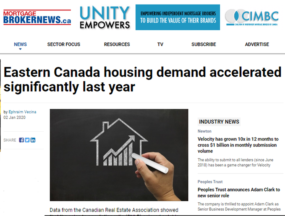 Eastern Canada housing demand accelerated significantly last year.png