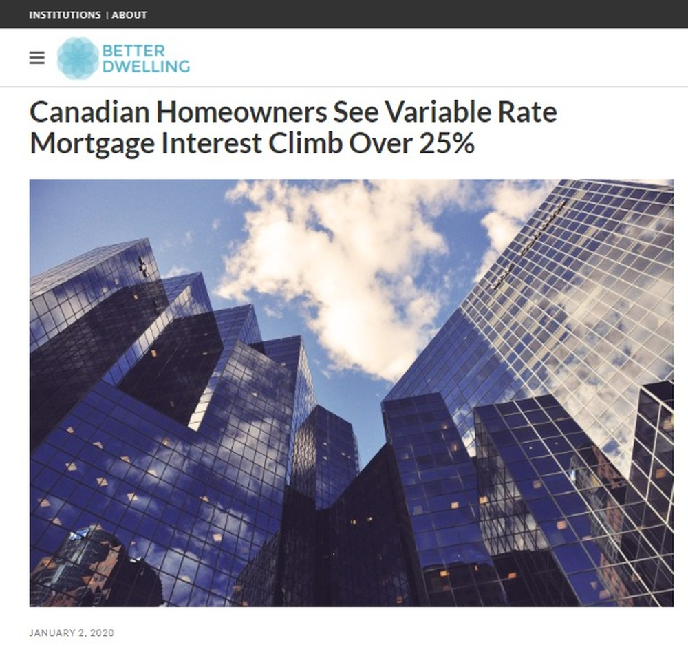 Canadian Homeowners See Variable Rate Mortgage Interest Climb Over 25    Better Dwelling.jpg