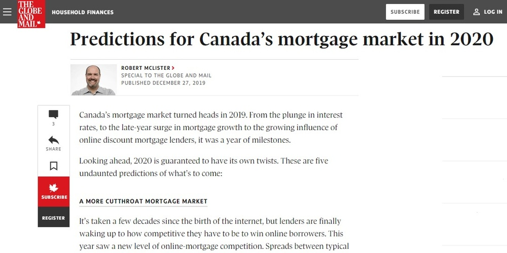 Predictions for Canada's mortgage market in 2020 - The Globe and Mail.jpg
