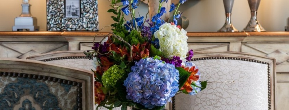 Flower Bouquet on Dining Table