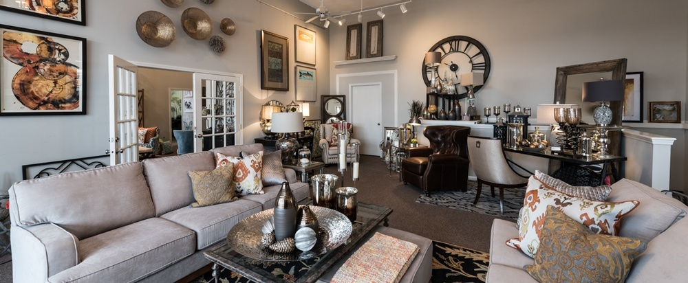 Living Room Interior Decor by R Designs - Interior Design Firm Leawood
