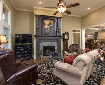 White Horse Living Room Remodel, South Leawood, KS