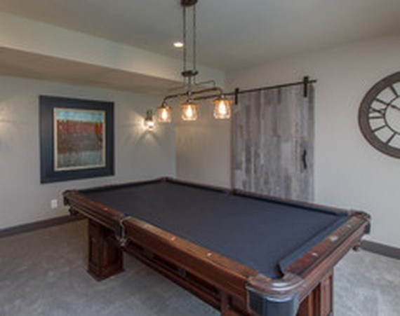 Billiards Table in a Room