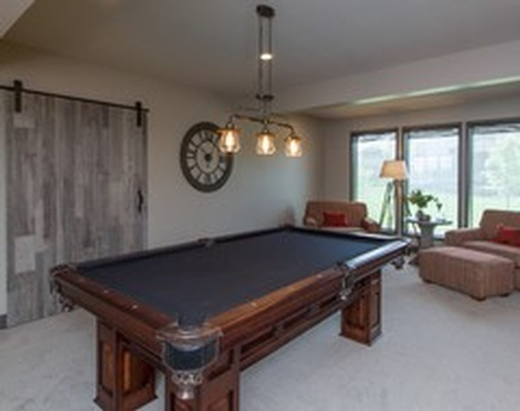 Billiards Table in a Room - Interior Design Services by R Designs