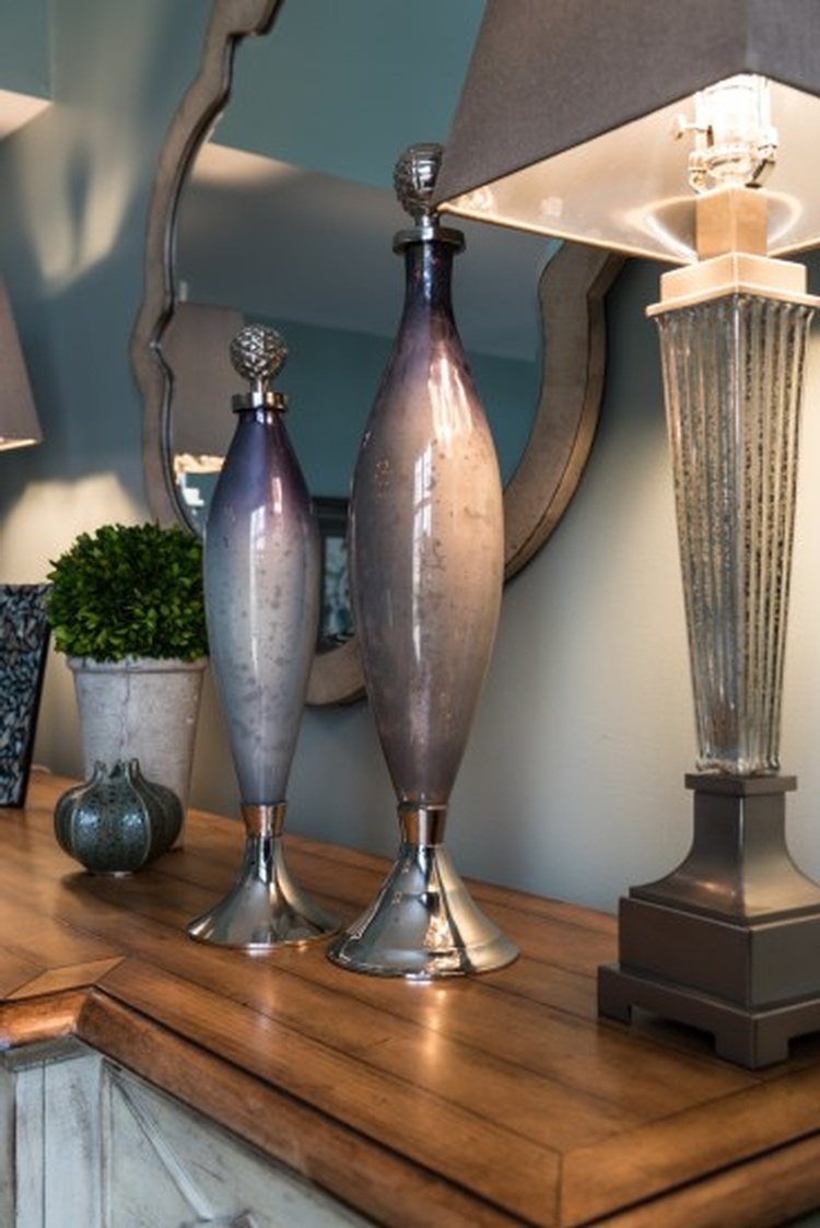 Two Ceramic vases placed on a Table - Hunter's Ridge Dining Room Remodel