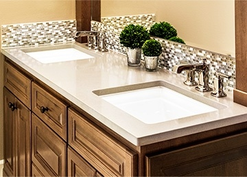 Custom Built Bathroom Vanity Sinks by ELITE KITCHENS INC.