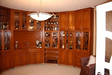 Wine Tasting Bar by Home Renovation Contractors Edmonton - ELITE KITCHENS INC.