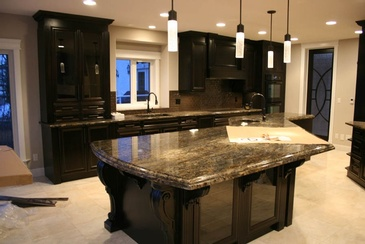 Unique Island - Kitchen Countertop Edmonton by ELITE KITCHENS INC.