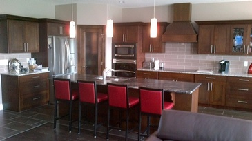 Kitchen Breakfast Bar by ELITE KITCHENS INC. - Home Renovations St.Albert