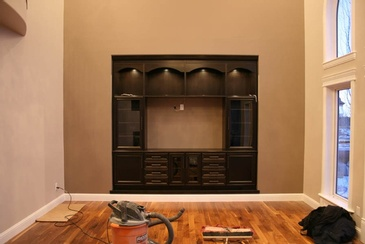 Inset Wall Unit - Residential Millwork Edmonton by ELITE KITCHENS INC.