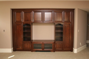 Entertainment Unit -  Residential Millwork Edmonton by ELITE KITCHENS INC.