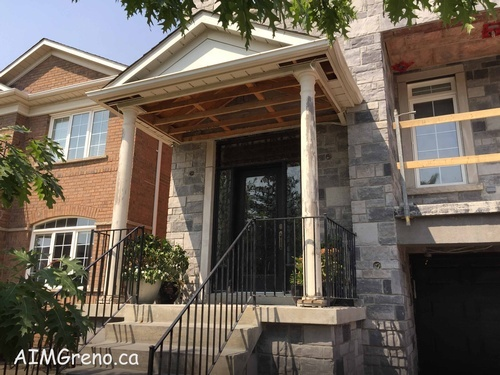 Before Exterior Columns Replacement Service by AIMG Inc