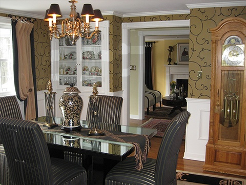 Renovated Dining Room in Boston MA
