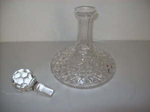 Vintage Crystal Wine Decanter