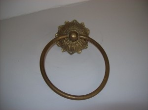 Brass Art Nouveau Towel Ring