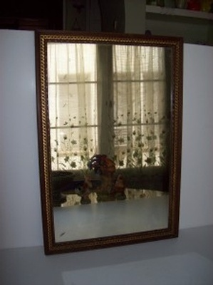 Antique Mirror With Delicate Gold Rope Moulding Frame - Buy Antiques Online Los Angeles
