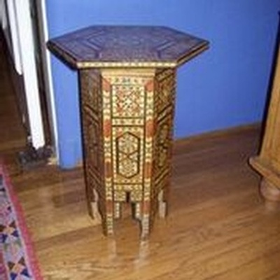 Inlaid Moroccan Side Table - Buy Vintage Furniture Online Los Angeles at Give Me Shelter Design
