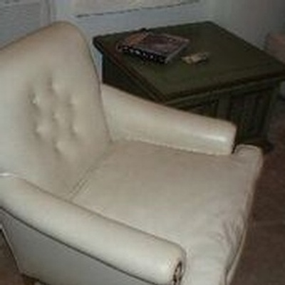 Upholstered White Club Chair - Buy Vintage Furniture Online Santa Monica at Give Me Shelter Design