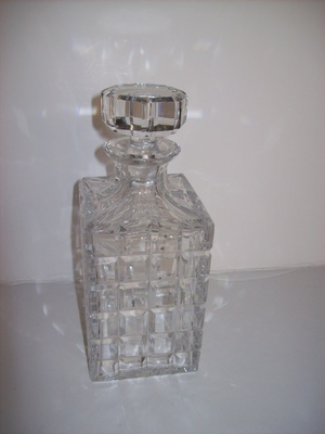 Buy Square Crystal Decanter at Give Me Shelter Design