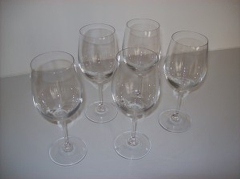 Buy 5 Classic Crystal Wine Goblets at Give Me Shelter Design