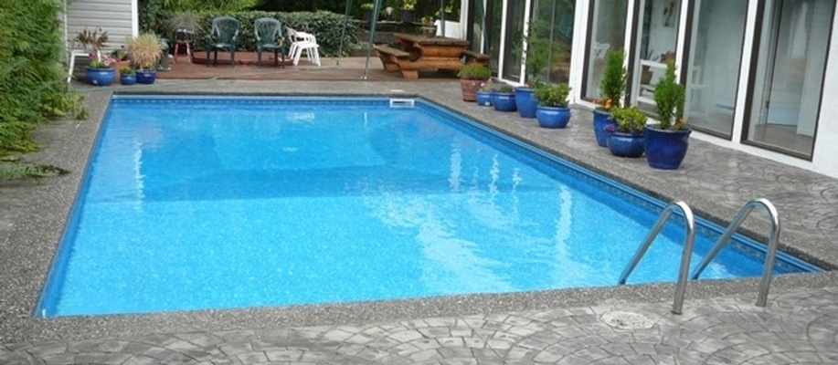 Vinyl Inground Swimming Pool Installation  North Vancouver BC