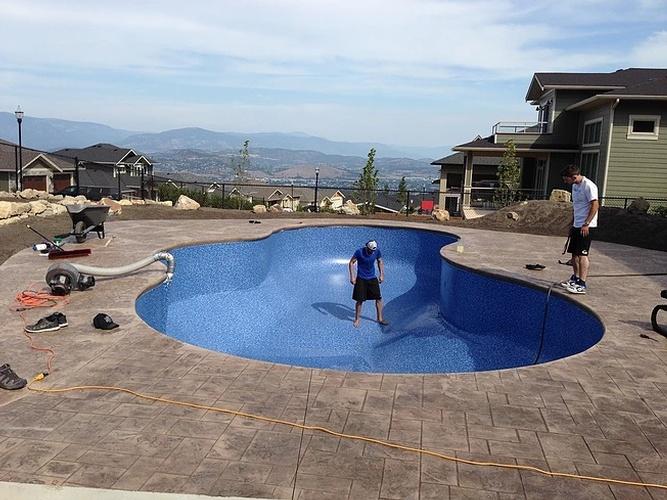 vinyl lined inground pools inground pool construction north vancouver bc vinyl liner pools
