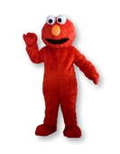 red smiley friend mascot entertainment parties toronto milton oshawa