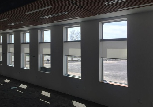 EN3 Sunprotection, commercial interiors, Dynamic-Lift Cassette Roller System, Phifer SheerWeave fabric, Daylighting Application, Port Colborne, Ontario, 15