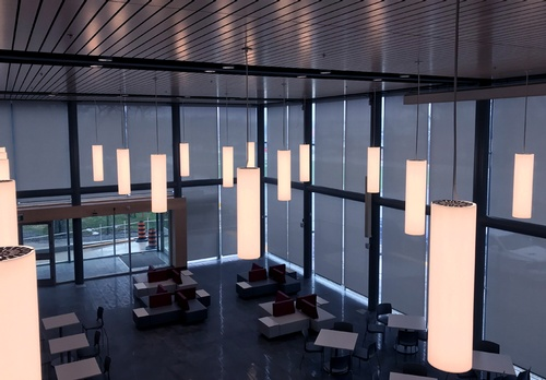 6 EN3 Sunprotection, Interior, Motorized, Roller Shade, Building Automation, Commercial, University site, 2018