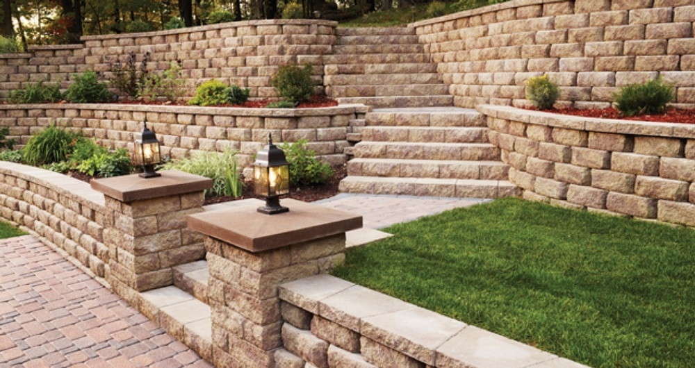 Stone Features - Landscaping Services by Arborist in Calgary AB - Ornamental Landscape Maintainers Ltd