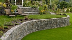 Retaining Wall Landscaping Services in Calgary AB by Ornamental Landscape Maintainers Ltd.