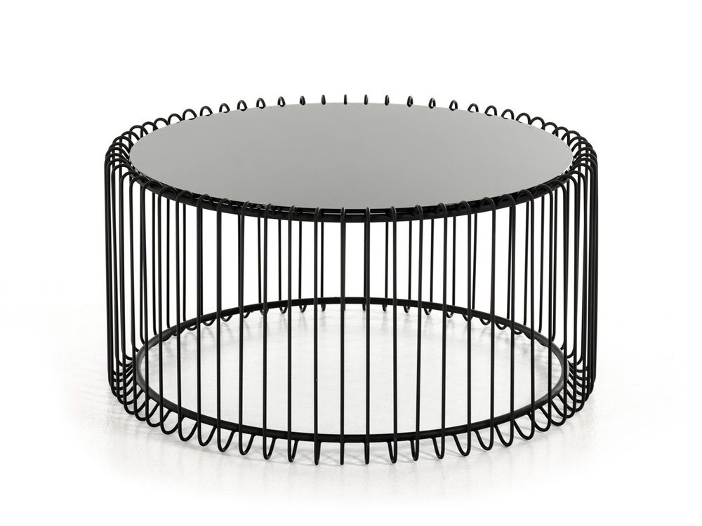 Flaunt Interiors Products Furniture Modrest Beacon Contemporary Black Round Coffee Table Fi 00332