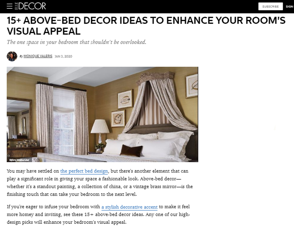 18 Best Above-Bed Decor Ideas - How to Decorate Over the Bed.png