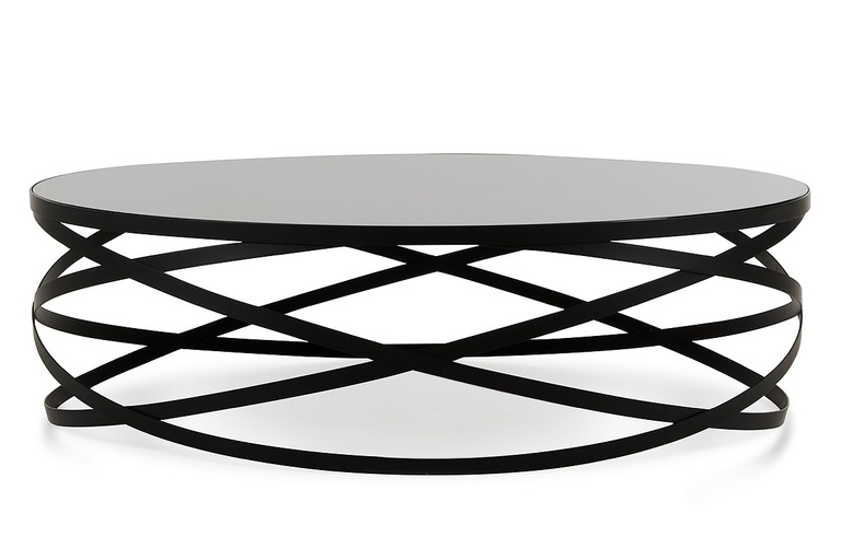 Flaunt Interiors Products Furniture Modrest Wixon Modern Black Round Coffee Table Fi 00335