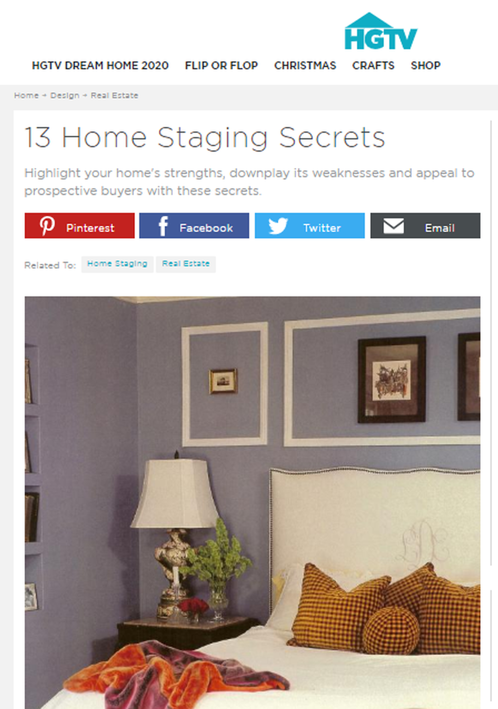 13 Home Staging Secrets   HGTV.png