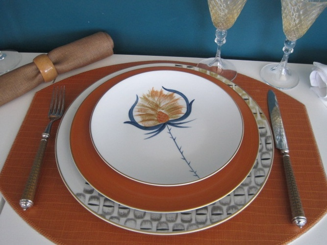 Marie  Daage Porcelain Luxury Dinnerware at The Silver Peacock Inc
