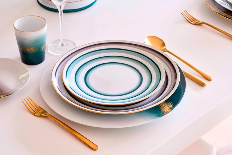 Marie Daage Porcelain Tableware at The Silver Peacock Inc