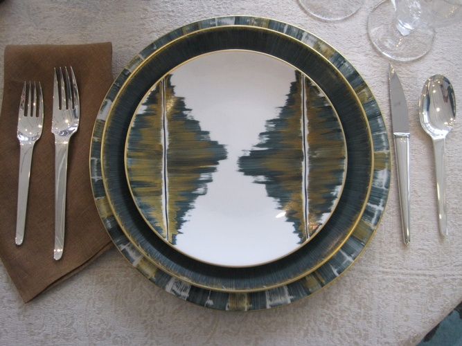 Hand Painted French Dinnerware at The Silver Peacock Inc